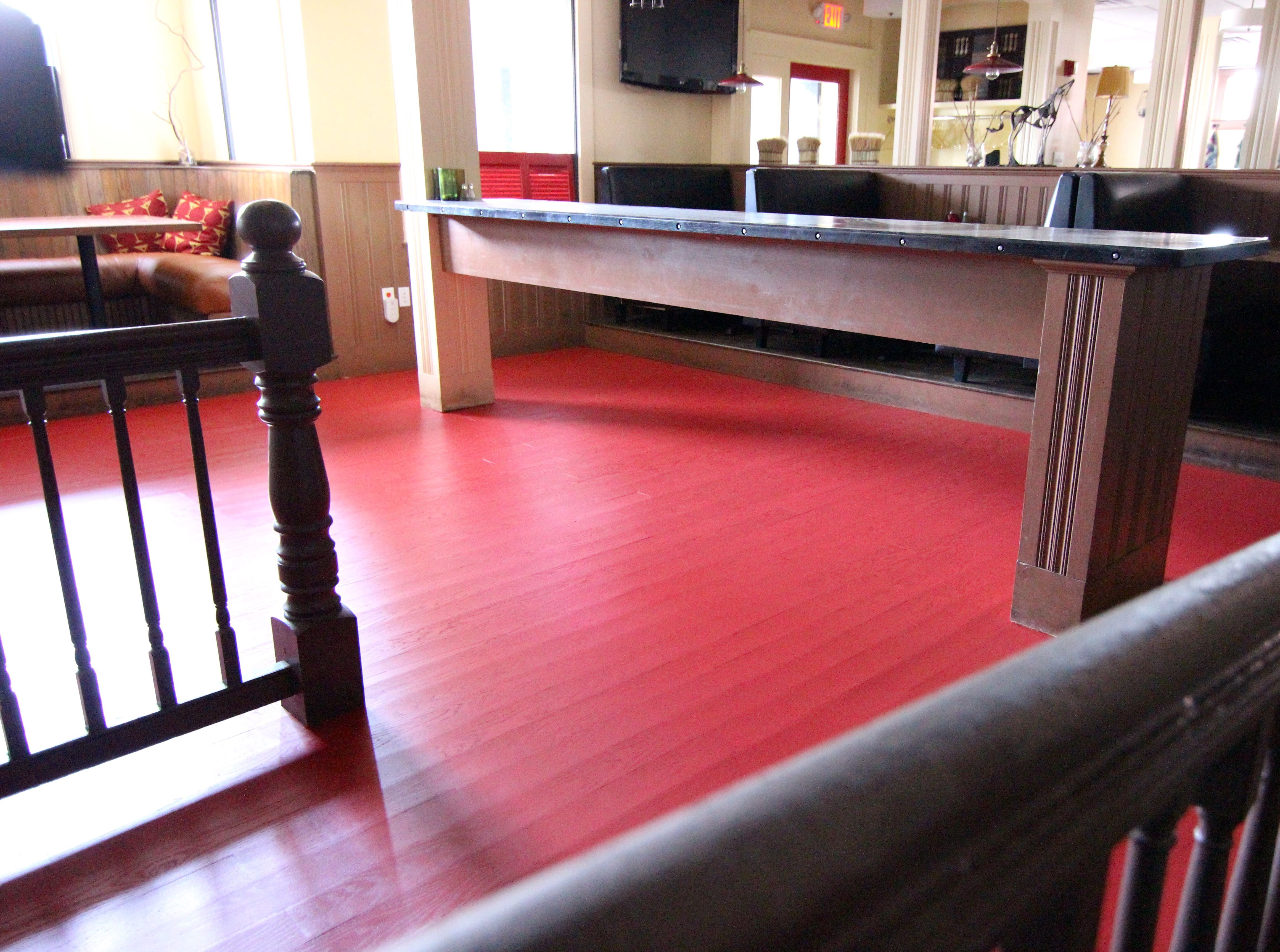 Use Acrylic Floor Paint This Dining Room In A Restaurant