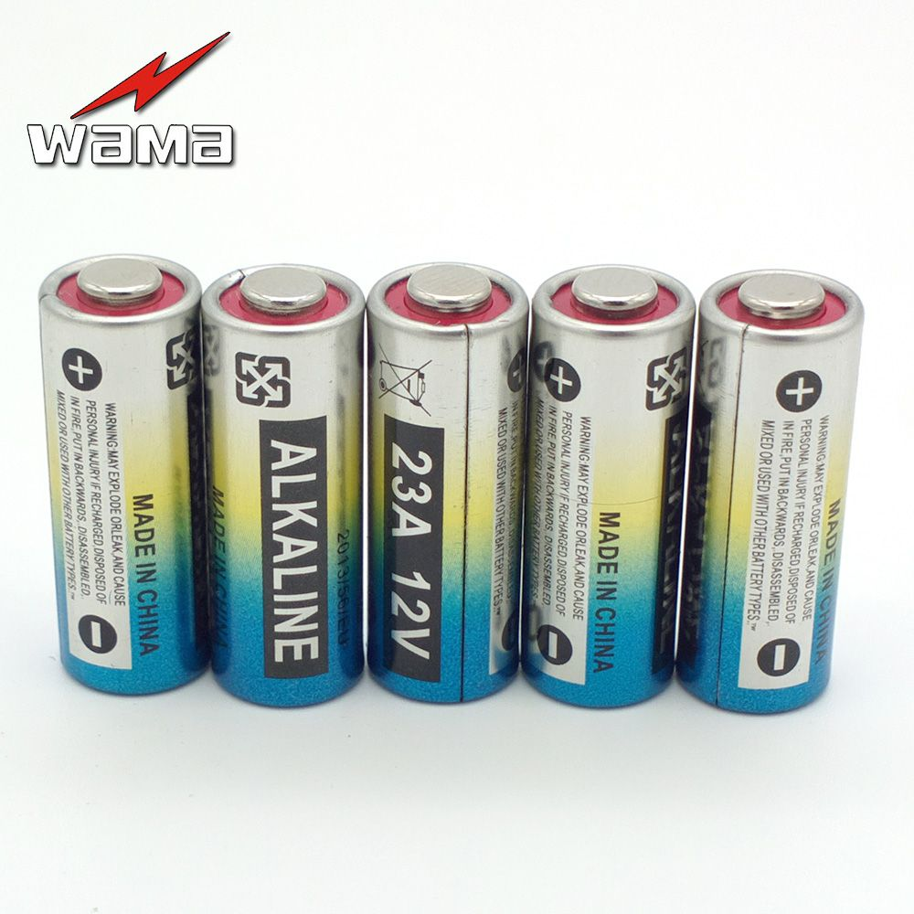 5x Wama Alkaline 12v 23a Primary Dry Batteries 21 23 23ga A23 A 23 Rv08 55mah Car Remote Electronic Battery Wholesales New Wino Remote Batteries Wino