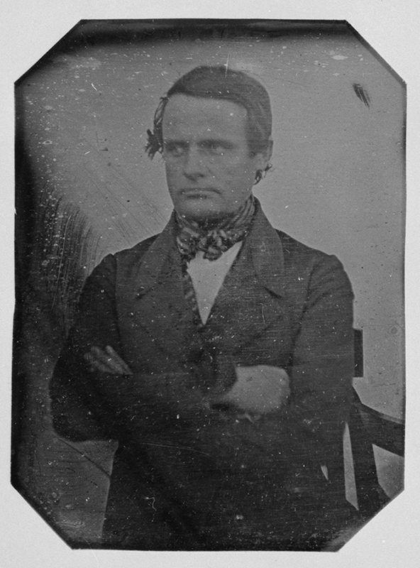 Henrik Cajanderin omakuva, 1844, Suomen ensimäinen selfie?