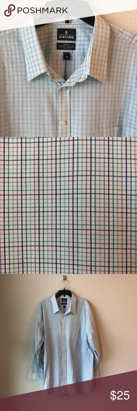 Stafford Mens Dress Shirt Stratford Mens Dress Shirt Euc Neck