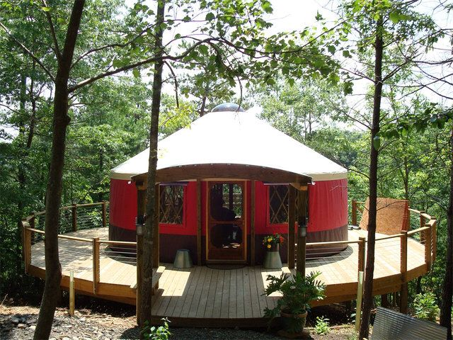 Yurt Deck Yurt Yurt Living