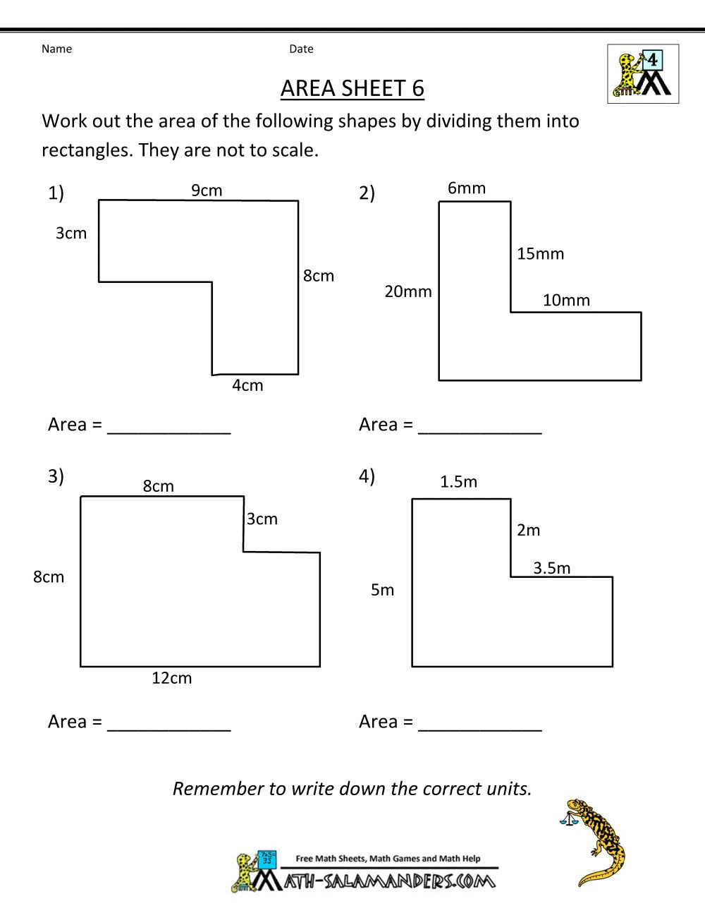 5 Area And Perimeter Worksheets With Answers In 2020 3rd Grade Math Worksheets Perimeter Worksheets Area Worksheets