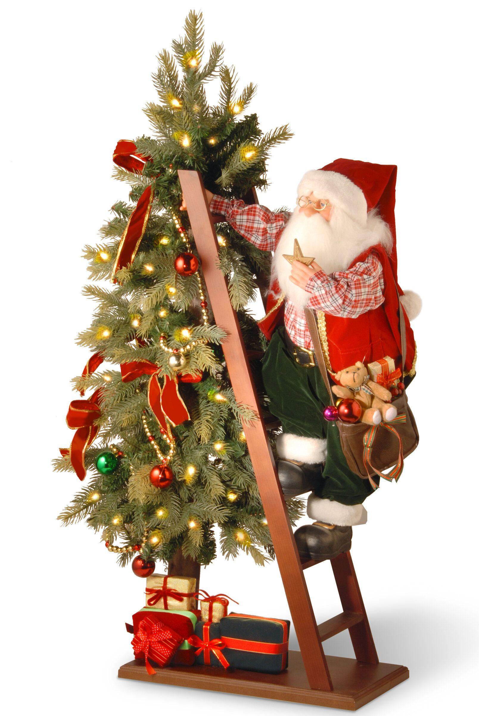 Andover Mills Santa And Tree With Lights Birch Lane In 2020 Christmas Tree Shop Christmas Tree Store Christmas Tree Sale