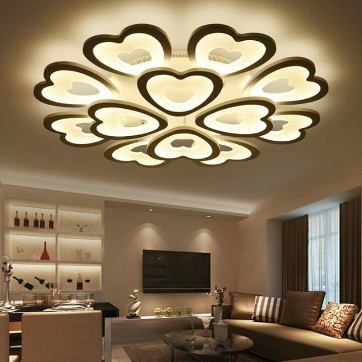 Diligent Led Crystal Ceiling Lights Remote Dimming Flat Panel Lamp Living Room Bedroom Study Lights Indoor Home Fixtures Free Shipping Ceiling Lights