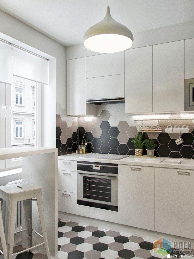 Дизайн проект кухни плитка соты в 2019 г Кухонная