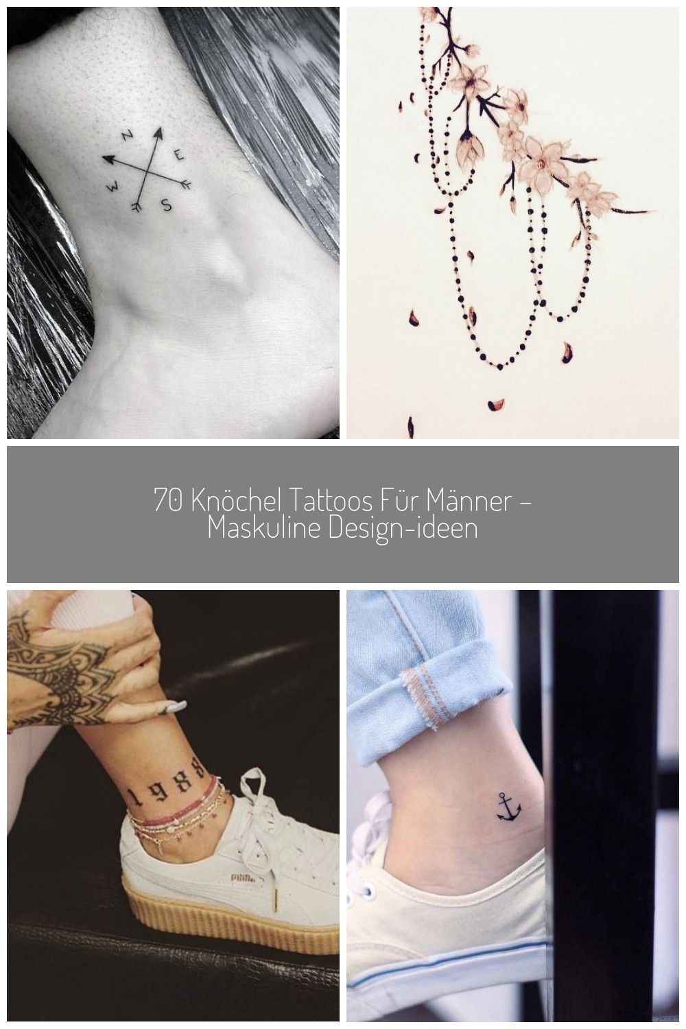 tattoos maskuline manner knochel ideen design ankle