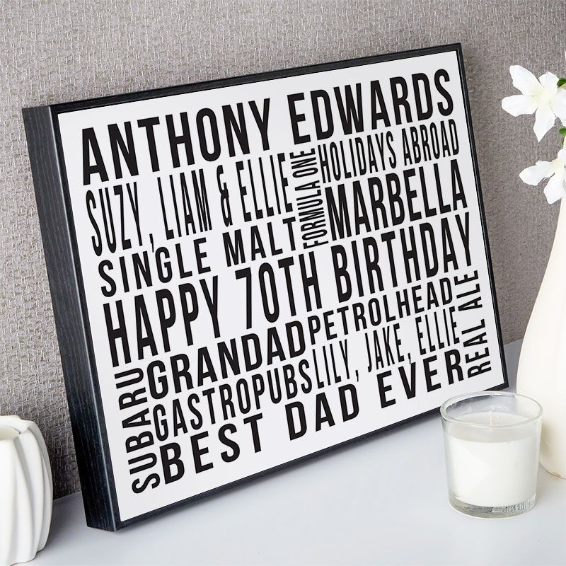 Meaningful 70th Birthday Gifts Uk References