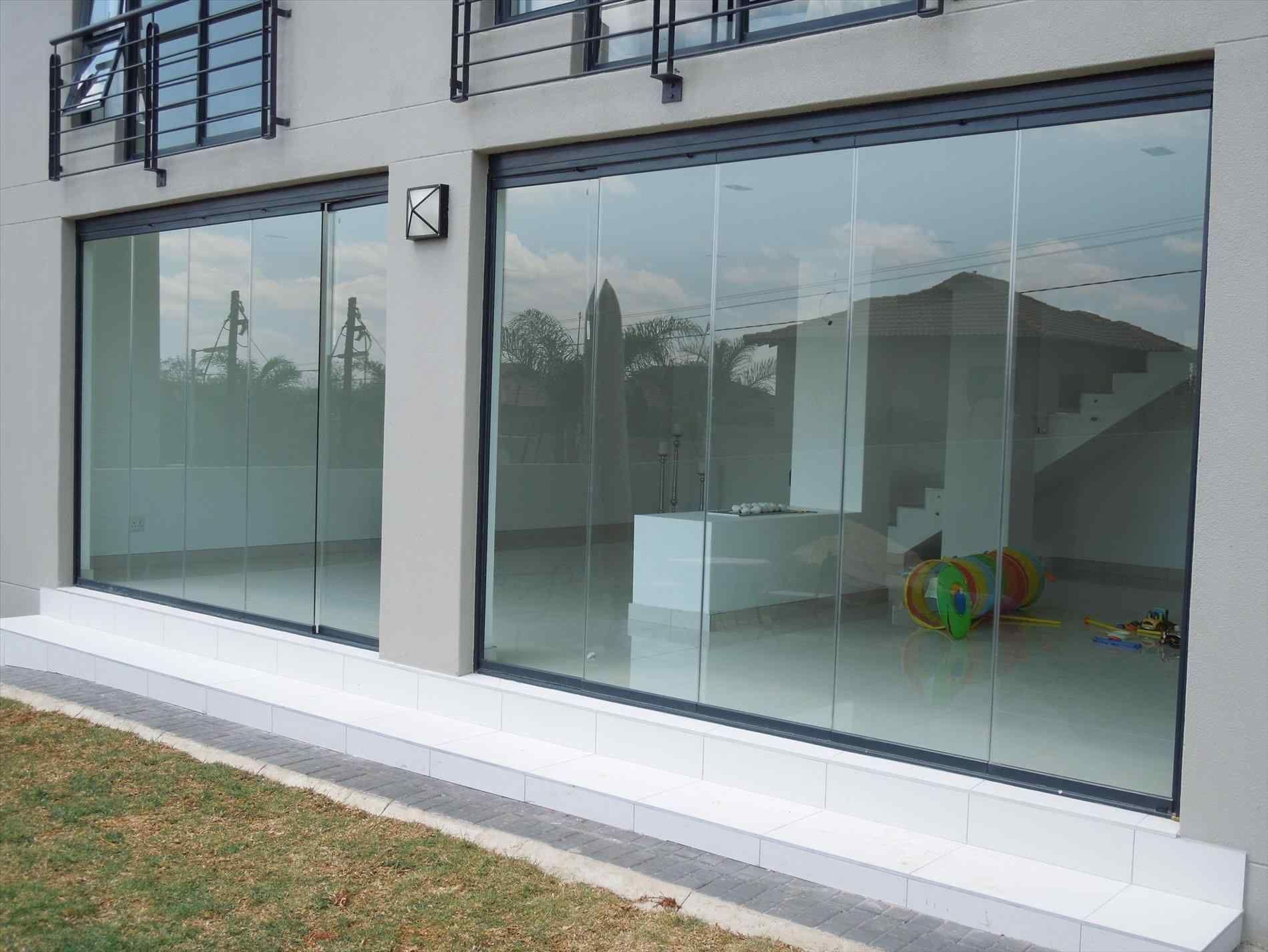 frameless sliding glass doors exterior