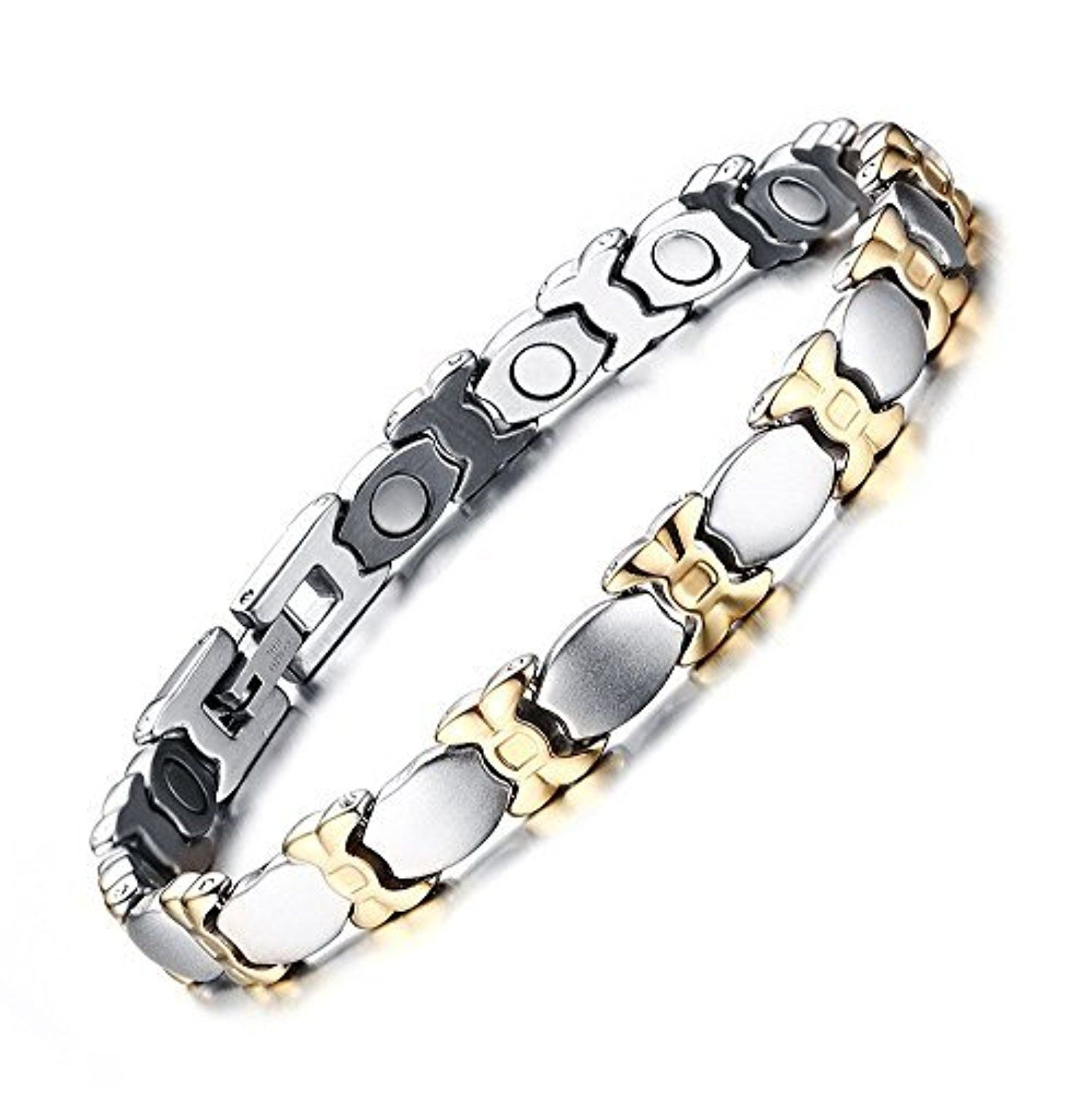 Titanium Stainless Steel Bracelet for Women's with Magnets-Pain Relief for Arthritis and Carpal Tunnel by Chang World -- Awesome products selected by Anna Churchill