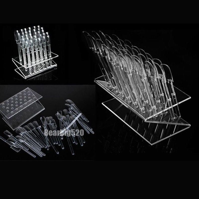 New 32 Tips Pop Sticks Nail Art Clear Tips Display Stand Showing ...