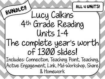 BUNDLE! 4th Grade Lucy Calkins Reading Units 1-4