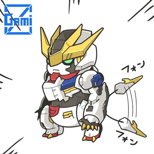 可愛到爆 日本插畫家畫q版鐵血的孤兒機體 Gundam Iron Blooded