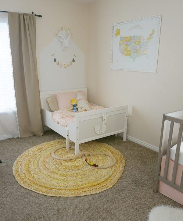 A Neutral Plus Modern Pastels Shared Room for Sisters images