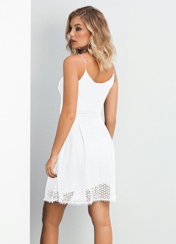 c722e5aad815 Vestido Curto de Alças Branco Doce Trama in 2019 | Products | Alças ...