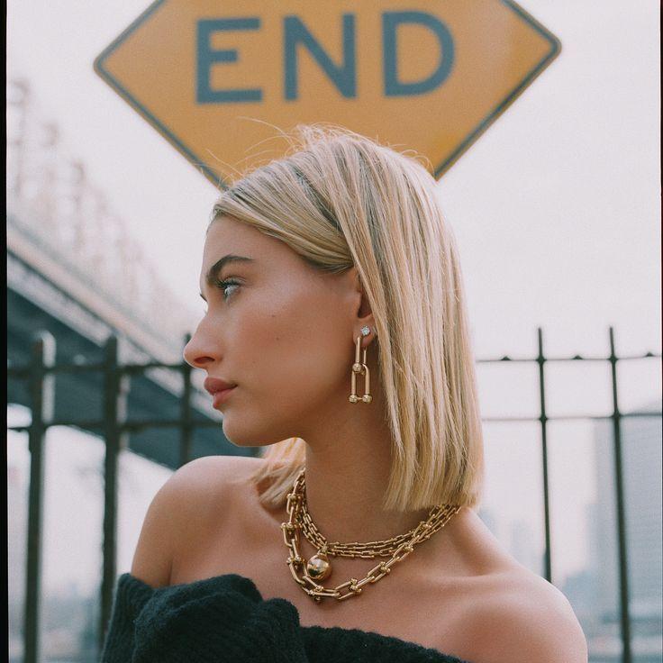 Photo of Hailey Baldwin for Tiffany & Co.