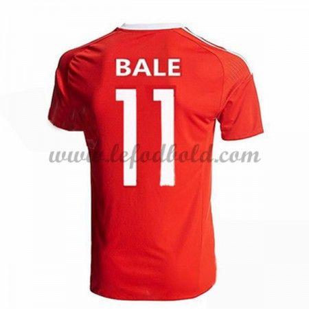 Billige Fodboldtrøjer Wales 2016 Landsholdstrøjer Bale 11 Kortærmet Hjemmebanetrøje