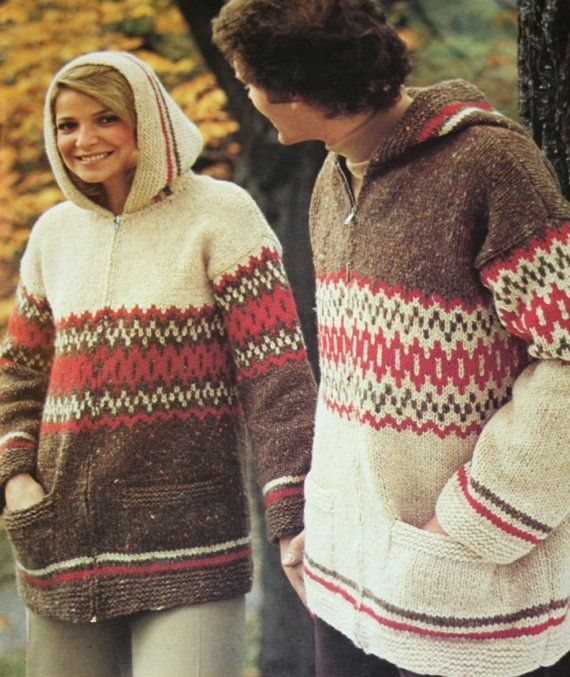Sweater Knitting Patterns Plus Size Vintage Big Sizes 2 by Patons ...