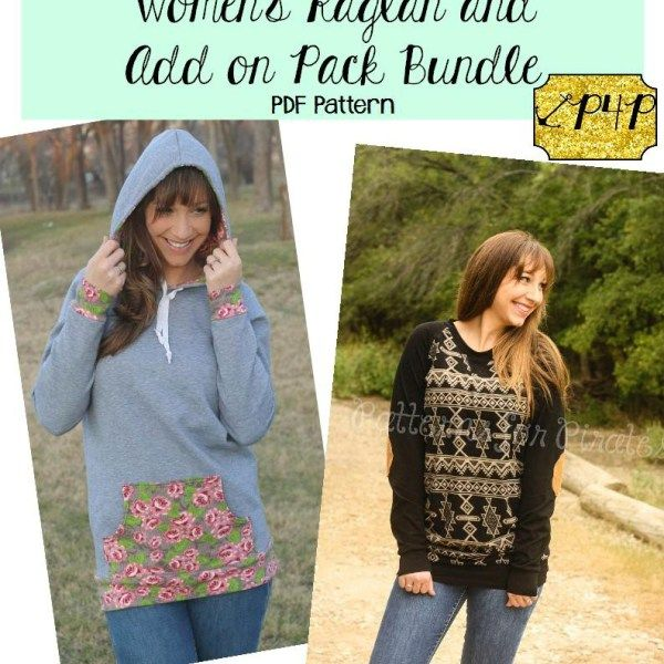 Relaxed Raglan And Add On Pack Bundle Patterns For Pirates