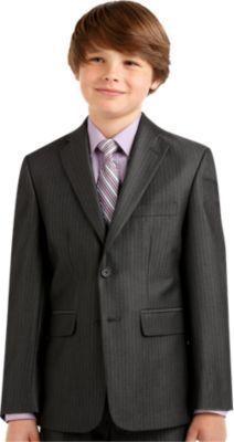 2af1994a934d2 Joseph   Feiss Boys Charcoal Stripe Suit Separates Coat - Boy s Suit  Separates