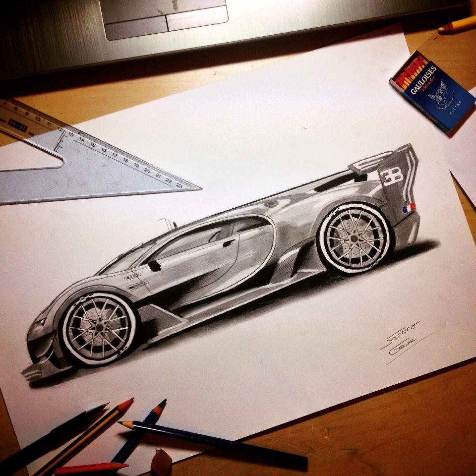 how to draw a bugatti symbol
