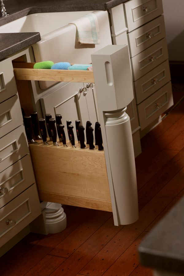 Kitchen cabinet pull-out knife rack | Kitchen/Diningroom | Pinterest ...