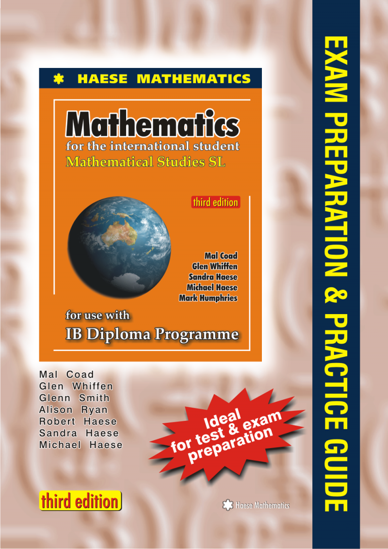 The aim of this Guide is to help students prepare for the Mathematics SL  final examinations. ISBN: 9781921972072
