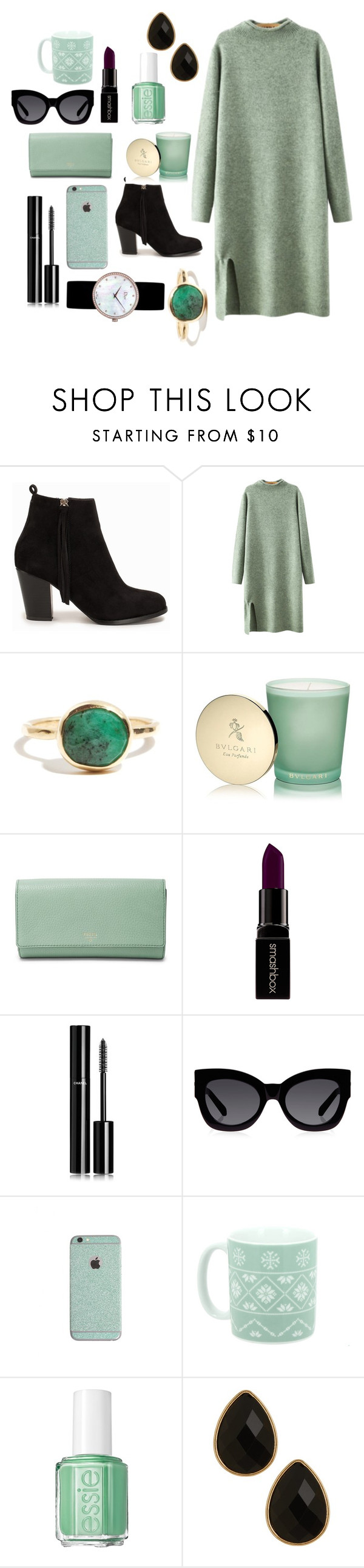 """Minimal"" by madi0401 ❤ liked on Polyvore featuring Nly Shoes, Chicnova Fashion, Bulgari, FOSSIL, Smashbox, Chanel, Karen Walker, Essie, Natasha Accessories and Christian Dior"