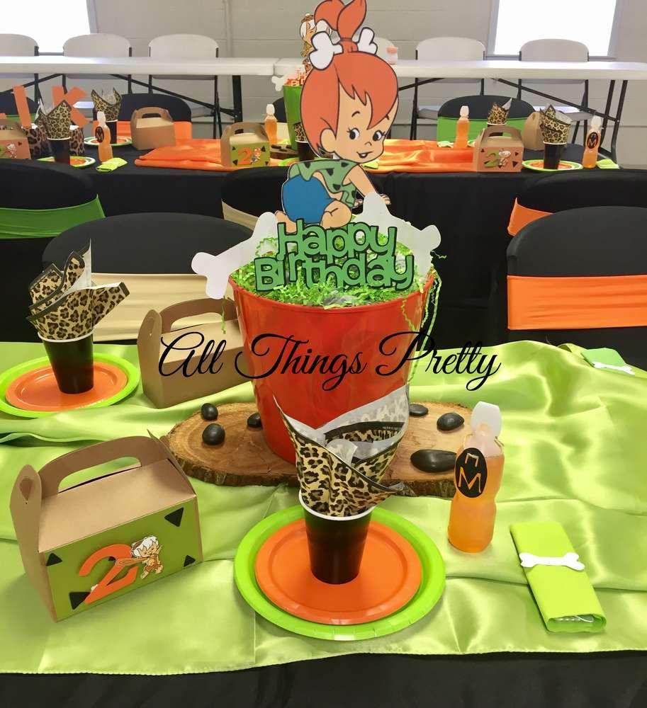 """The Flintstones """"Pebbles & Bamm Bamm Birthday Party Ideas"""