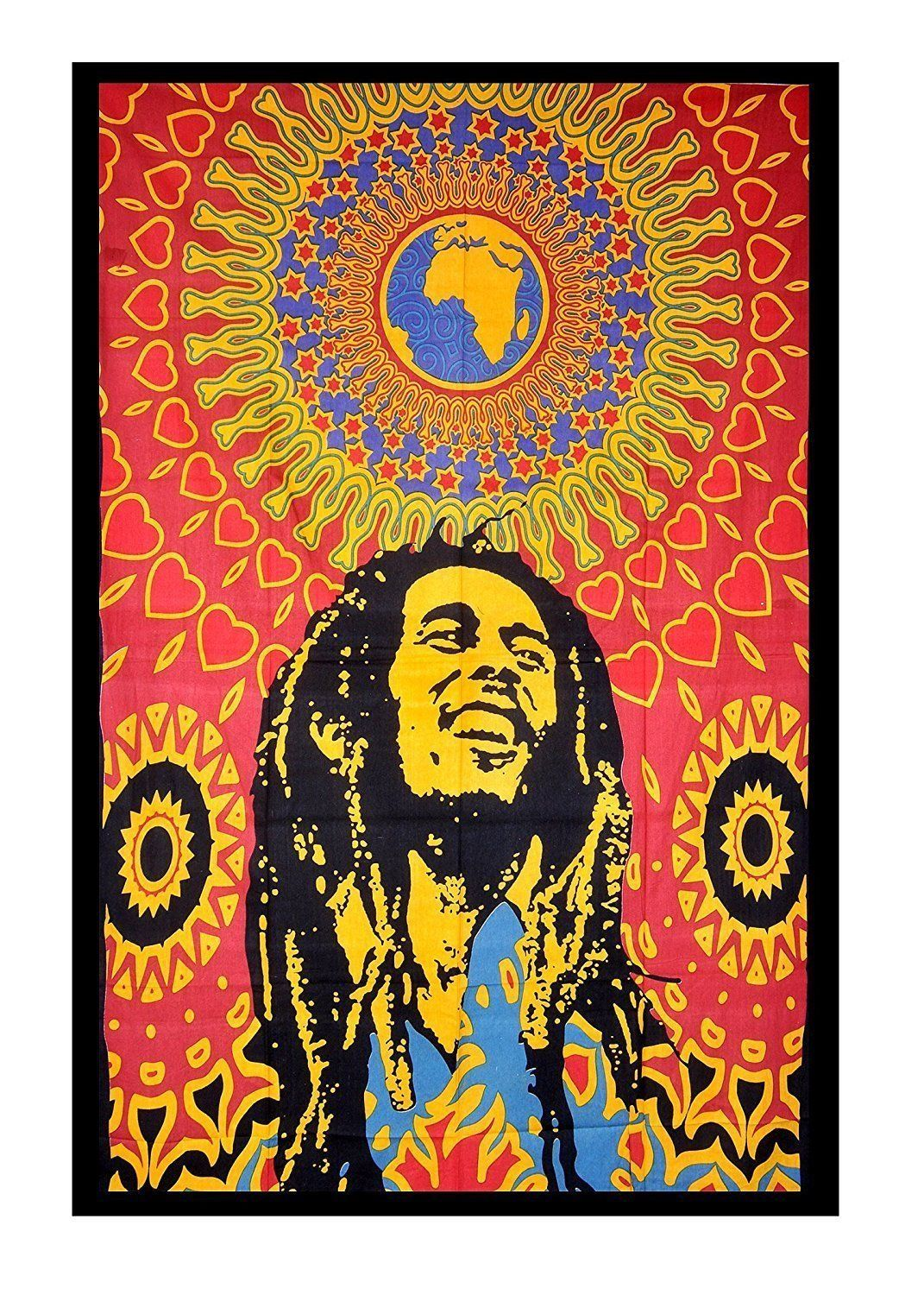 Indian Bob Marley Bed Cover Bohemian Bedspread Hippie Tapestry