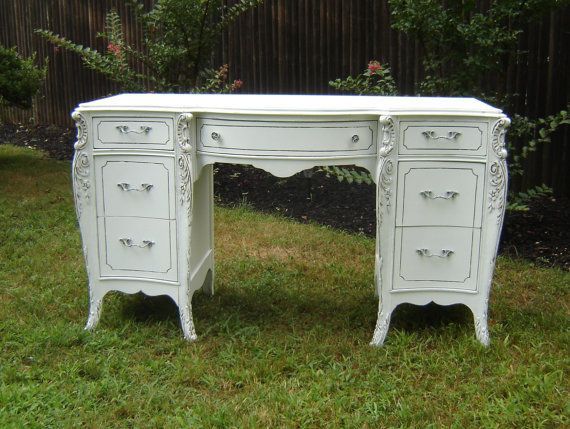 Pier 1 Imports Madeline Antique White Desk 480 Liked On Polyvore Featuring Home Furniture Desks Antique White Desk White Desks Antique White Furniture