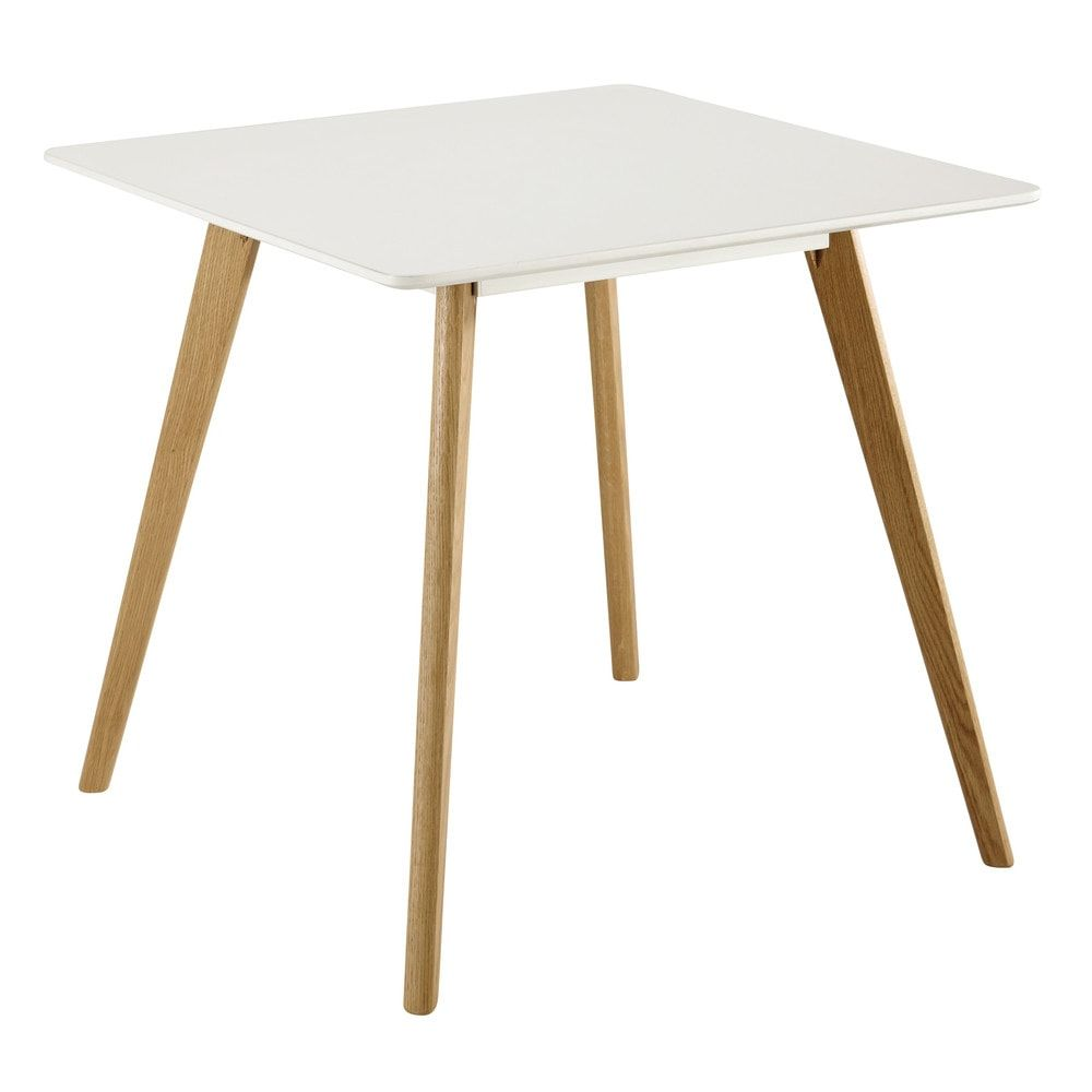 Small Square Dining Table Is A Perfect Fit For A Living Room Coming Dining Area Square Dining Table In White W 80 Square Dining Tables Dining Table Table