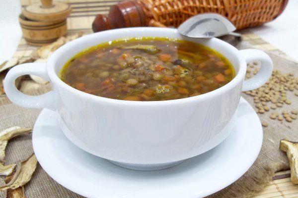 Постный грибной суп с чечевицей | Идеи для блюд, Кулинария ...