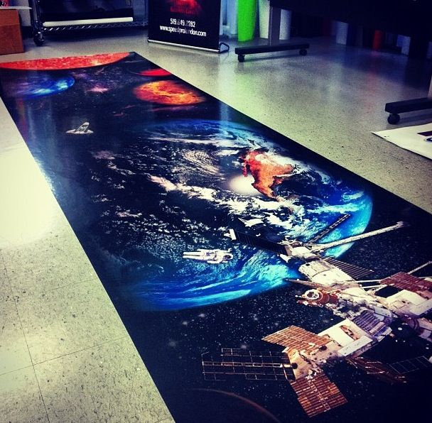 Awesome Floor Signage Done By The Speedpro Imaging London Ontario - Custom vinyl stickers london ontario