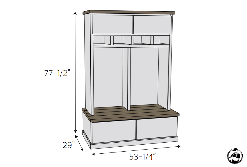 Mudroom Lockers With Bench Free Diy Plans Mudroom Lockers Diy Mudroom Bench Diy Locker