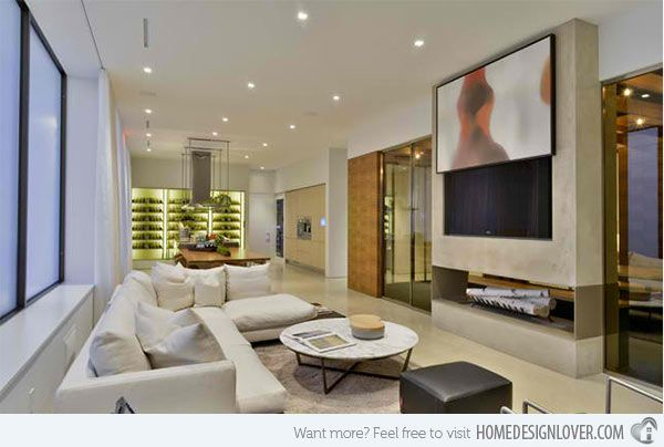 15 Ideas For Television Developed In Media Wall In Modern Residing Rooms Http Www Interiorblogdaily Com Contemporary Family Rooms Hidden Tv Living Room Tv