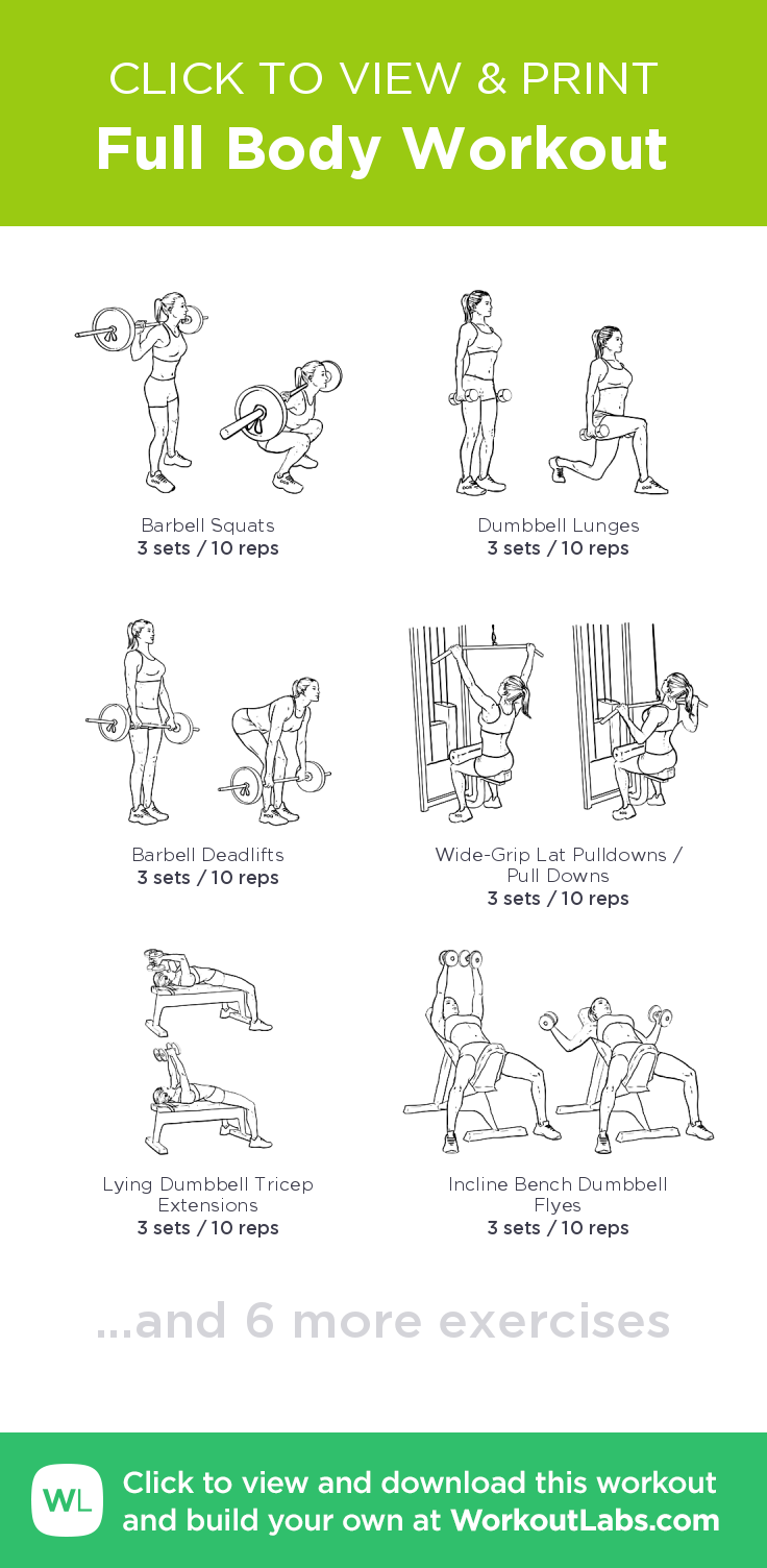 Full Body Workout – click to view and print this ...