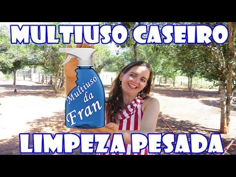MULTIUSO E DESENGORDURANTE CASEIRO - YouTube