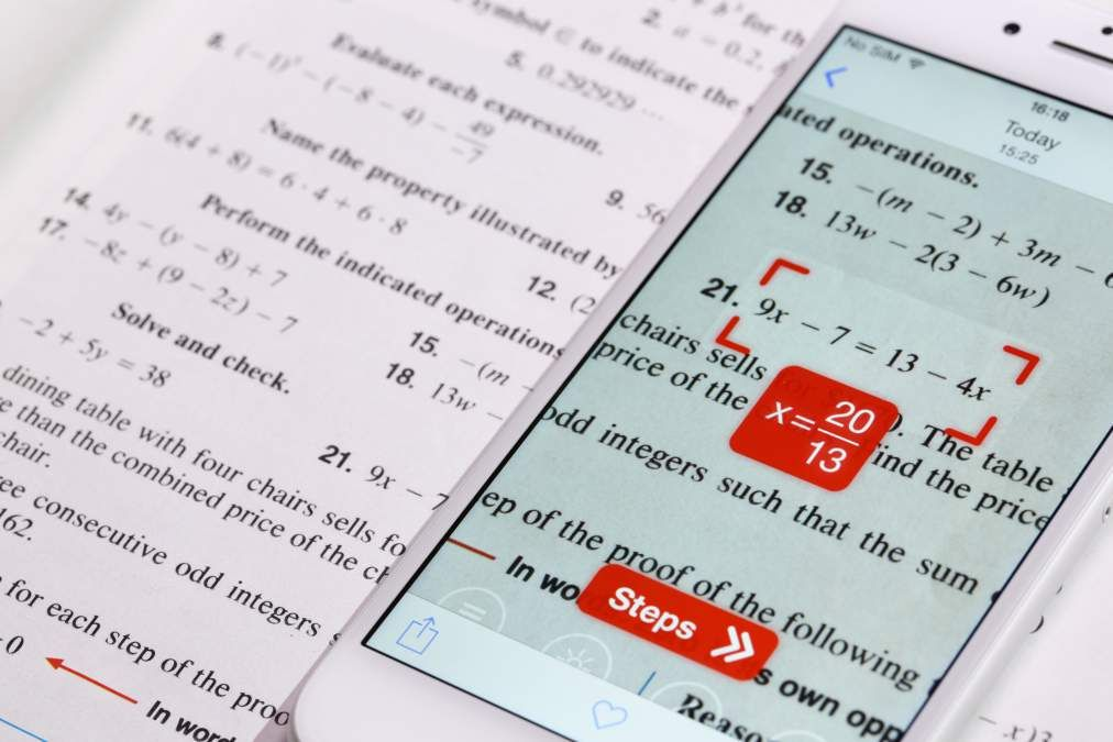 Math homework just became way easier. With this App can take a photo ...