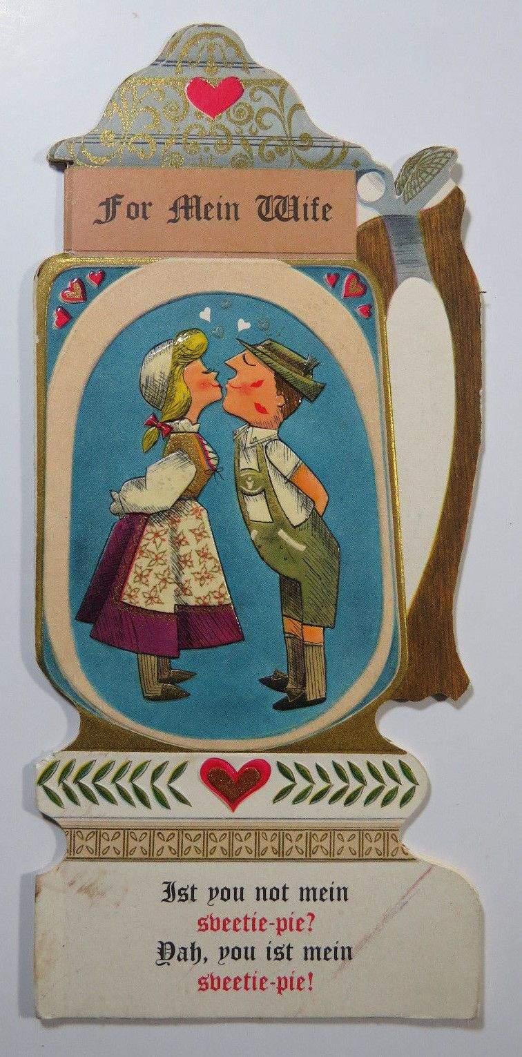 wedding anniversary greeting cardhusband%0A VTG Happy Anniversary to Wife Hallmark Greeting Card       German Beer  Stein in Collectibles