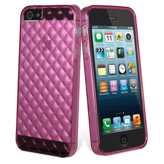 coque iphone 5 silicone rose