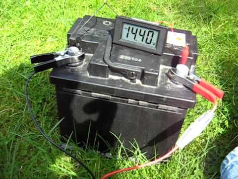 Charging A Car Battery With A Solar Panel And Charge Controller Car Battery Charging Car Battery Diy Solar Panel