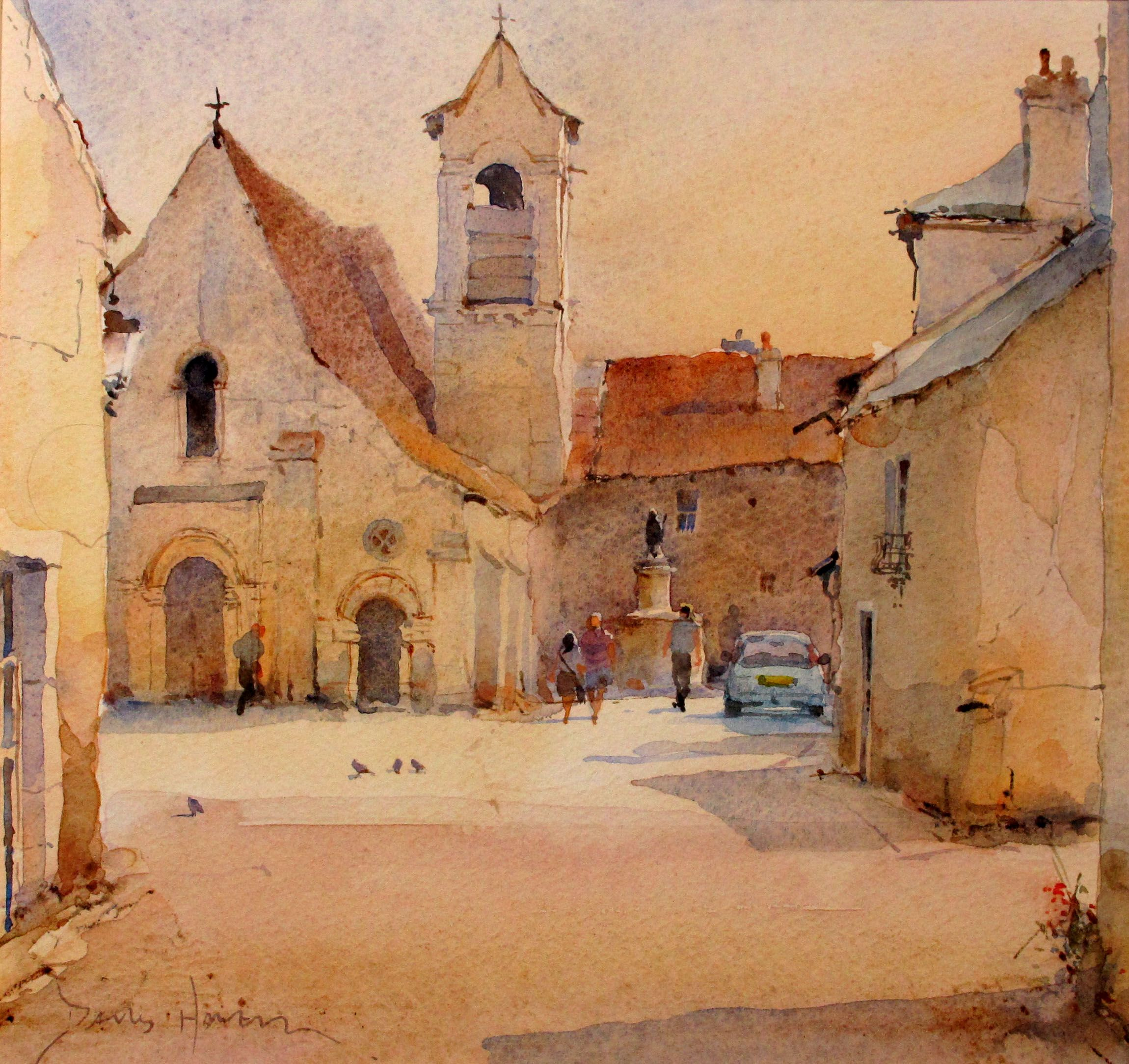 David howell watercolor david howell paintings for Architektur aquarell
