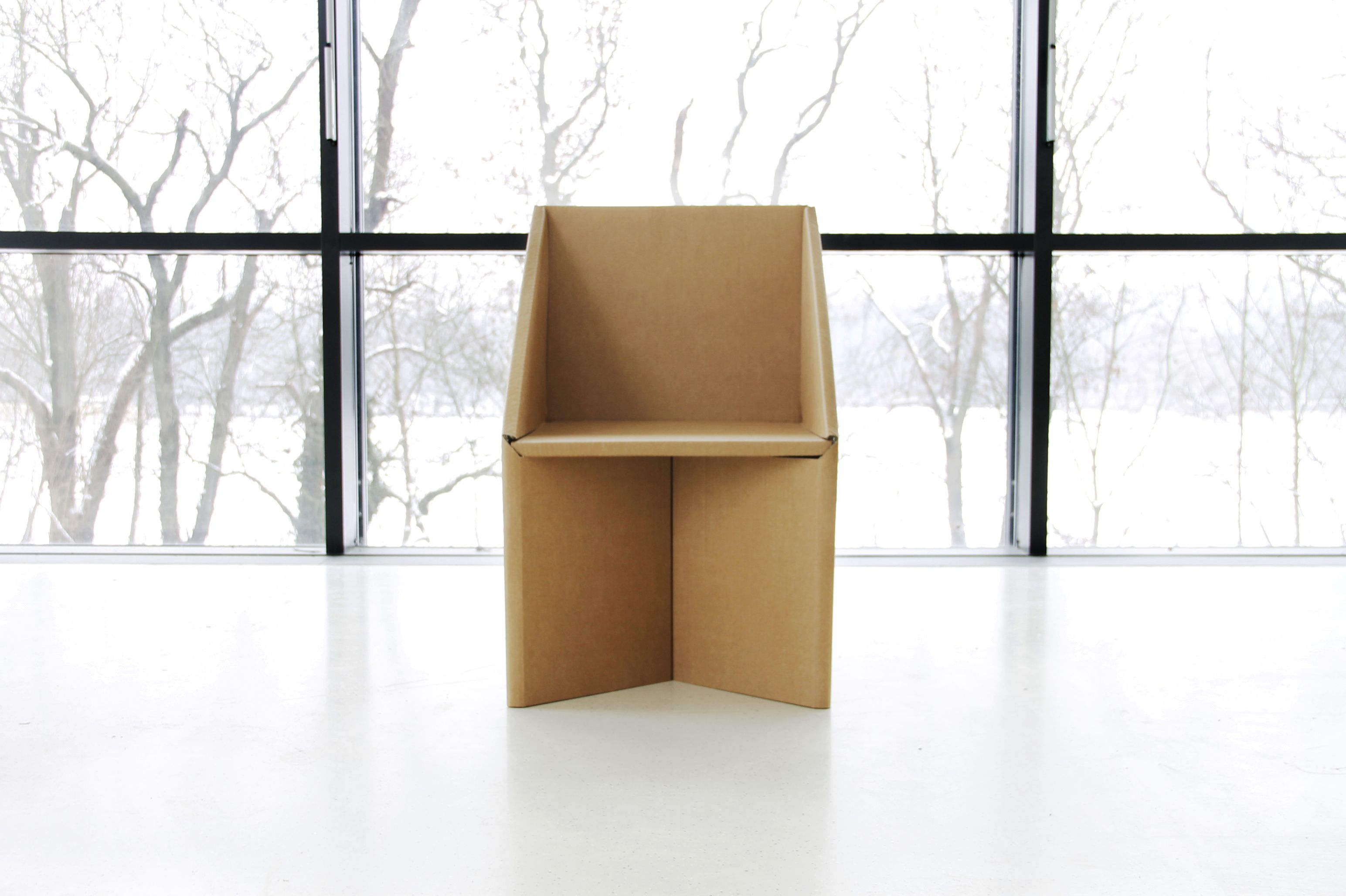 Dentro, A Lightweight And Simple Foldable Cardboard Chair By Jordi Iranzo