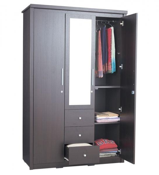 3 Door Wooden Wardrobe 3 door wardrobe designs catalogue home
