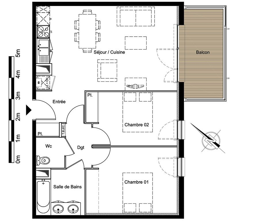 Immobilier neuf pour habiter, investir et défiscaliser | Plan appartement, Plan logement ...