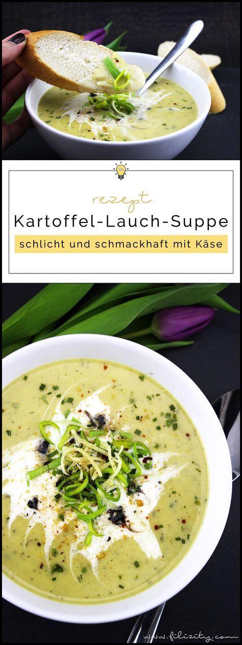 Kartoffel-Lauch-Suppe mit Käse #herbstgerichte