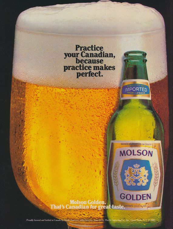 1983 Molson Golden Beer Ad Canadian Vintage Beer Advertisement