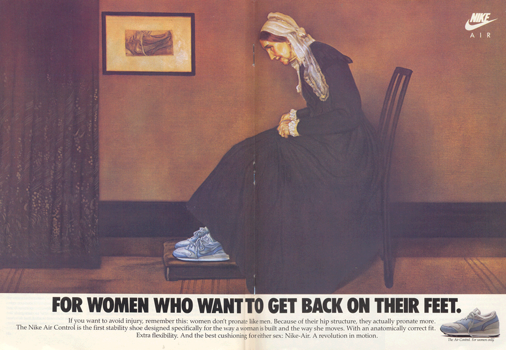 nike ads images | Retro Ad From August 1987, The Women's Nike Air Control