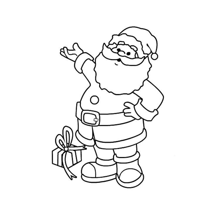 Coloriage Père Noël 2 Ans a Imprimer Gratuit | Coloriage