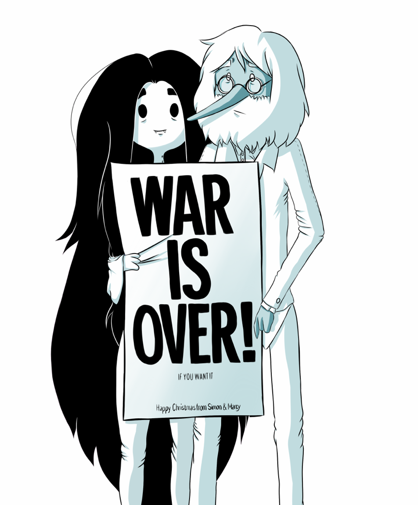 In Adventure Time, the war is over because all of human